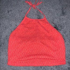 Textured halter top